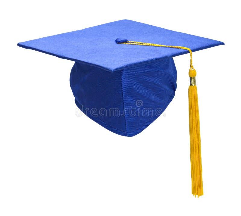 De blauwe Voorzijde van de Graduatiehoed stock afbeelding