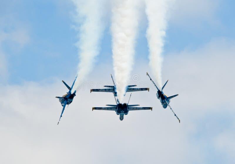 De blauwe Vorming van Engelen stock fotografie