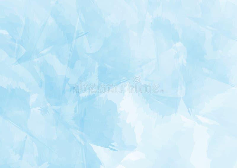 De blauwe Waterverfachtergrond, Uitstekende Stijl met ruimte voor tekst bracht, ontwerp voor behang en textuur aan, stock illustratie