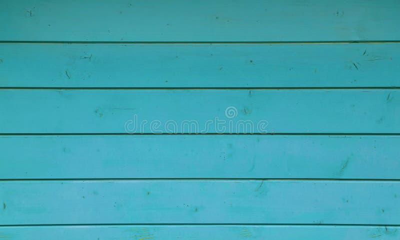 De blauwe wijnoogst grunge schilderde houten plankenpaneel royalty-vrije stock fotografie
