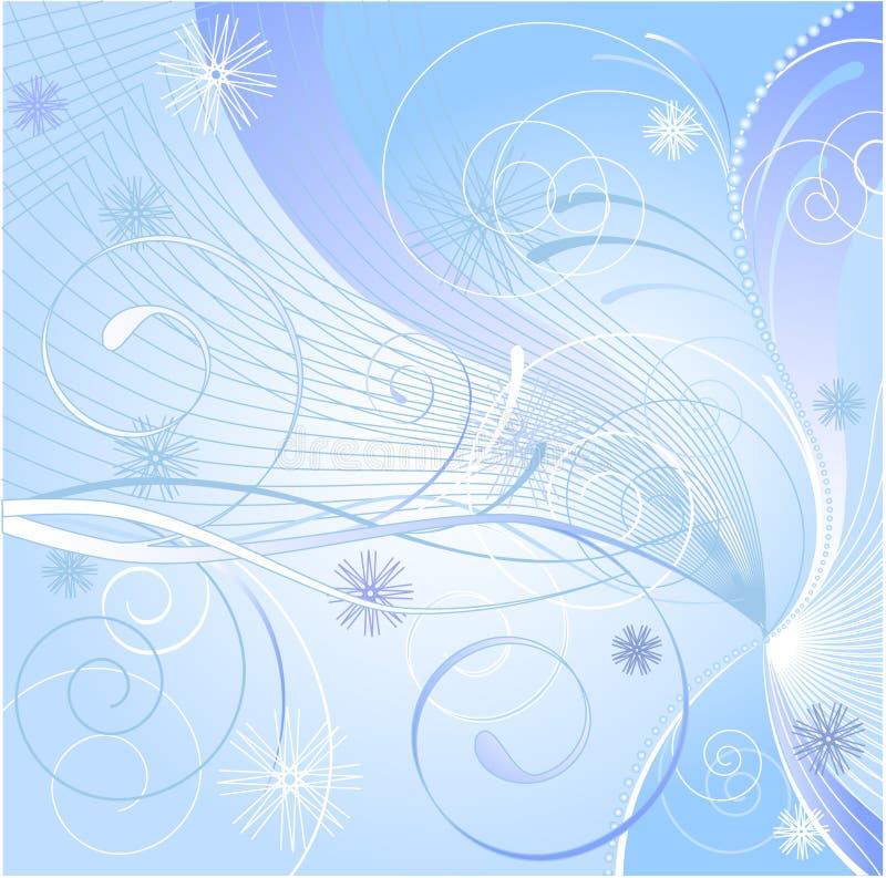 De blauwe winter vector illustratie