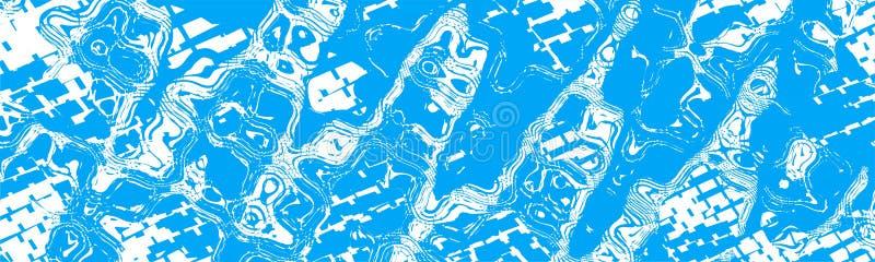 De blauwe Witte Abstracte Achtergrond van de Bannerkopbal stock illustratie