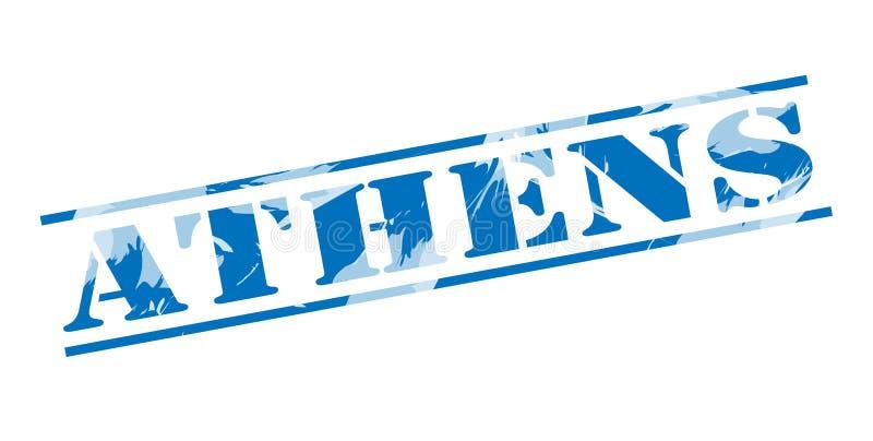 De blauwe zegel van Athene vector illustratie