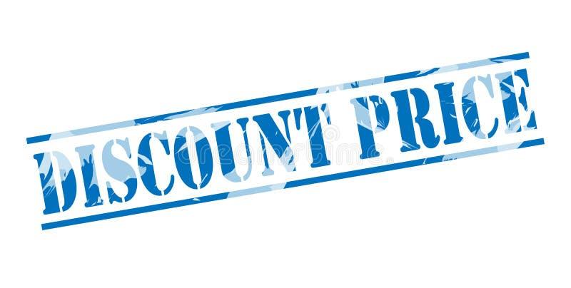 De blauwe zegel van de kortingsprijs royalty-vrije illustratie