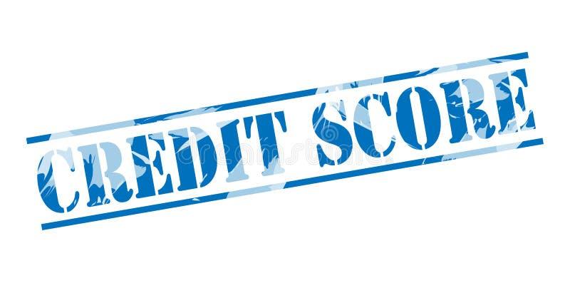 De blauwe zegel van de kredietscore vector illustratie