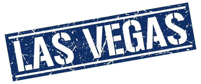 De blauwe zegel van Las Vegas vector illustratie