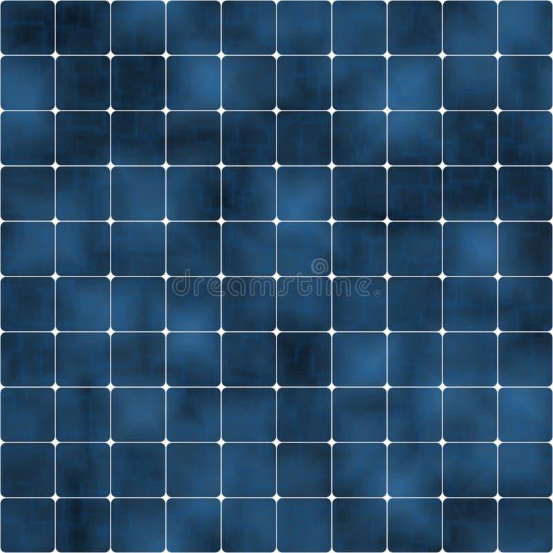 De blauwe zonnecellen van SL vector illustratie