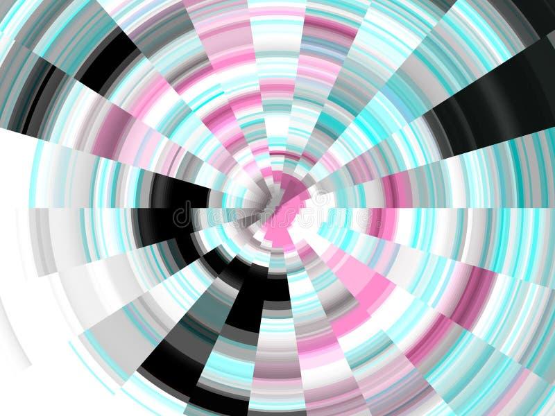 De blauwgroene roze cirkelmeetkunde, vat levendige achtergrond, abstracte textuur samen stock illustratie