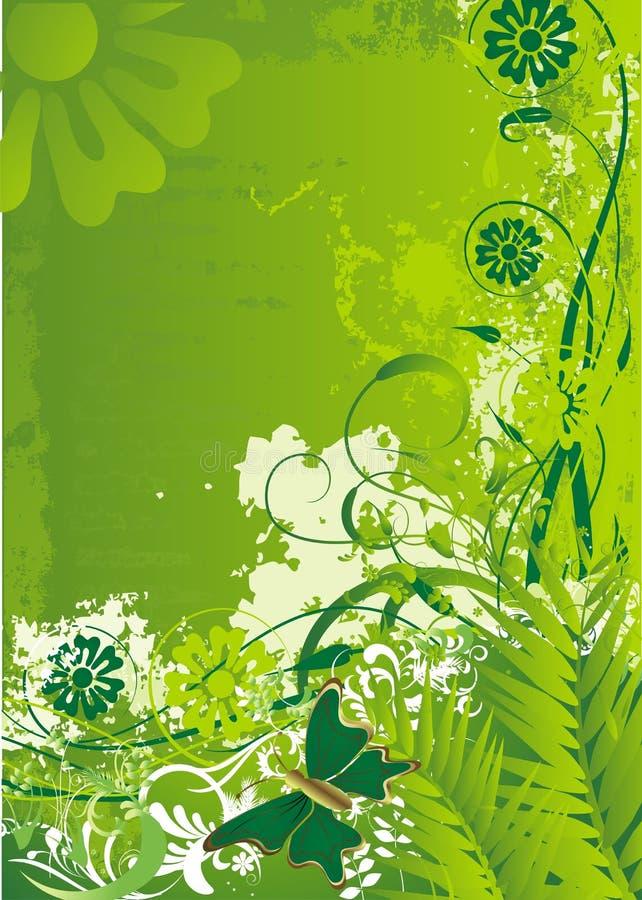 De blije de lentevlinder stock illustratie