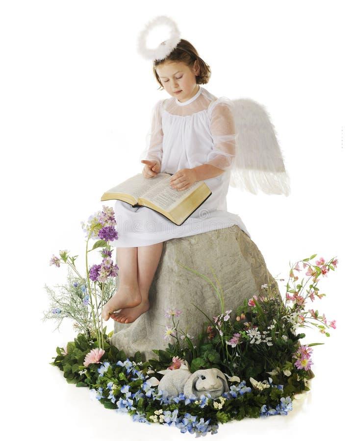 De blije Engel van Pasen royalty-vrije stock afbeeldingen