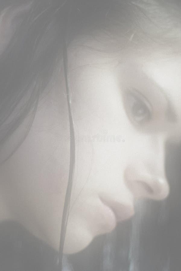 De blik van de vrouw stock afbeelding