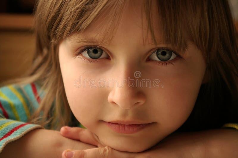 De blik van het kind stock afbeelding