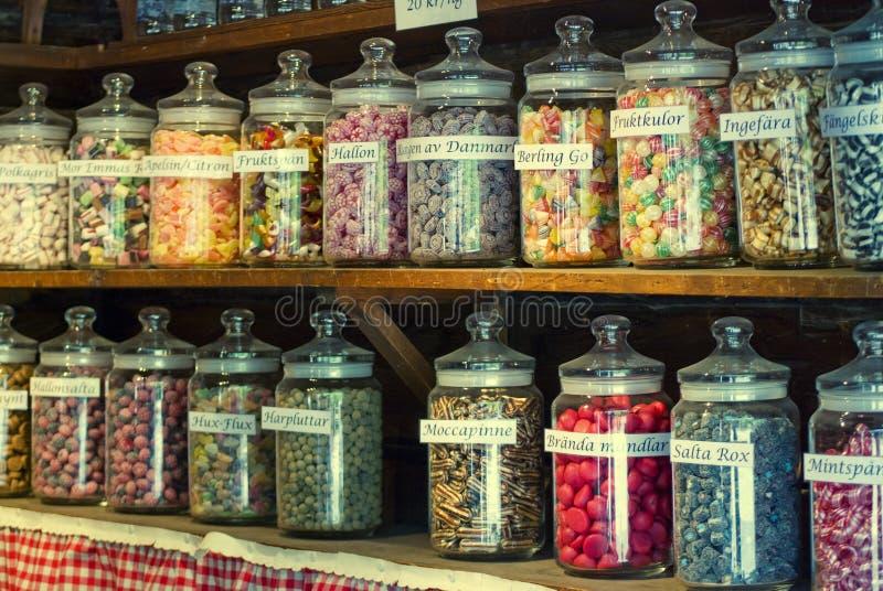 De blikken van het suikergoed stock fotografie
