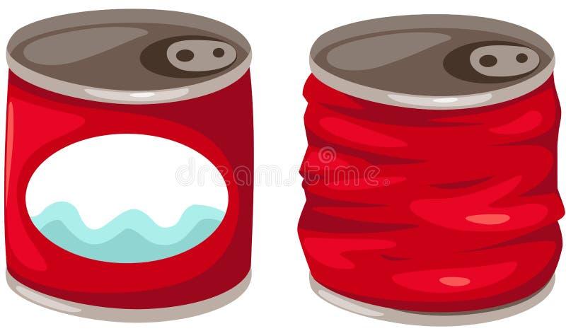 De blikken van het voedsel vector illustratie