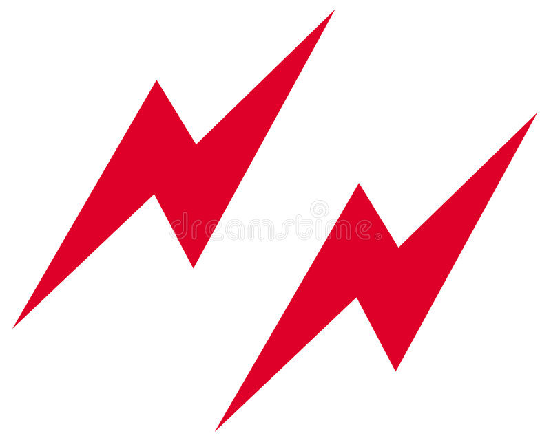De bliksem slaat symbool stock illustratie