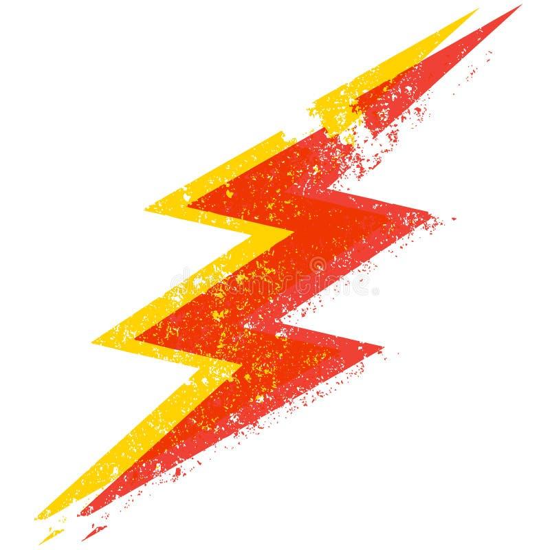 De bliksembout van Grunge stock illustratie