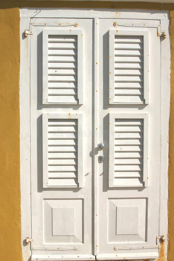 De blinden van de deur royalty-vrije stock afbeeldingen