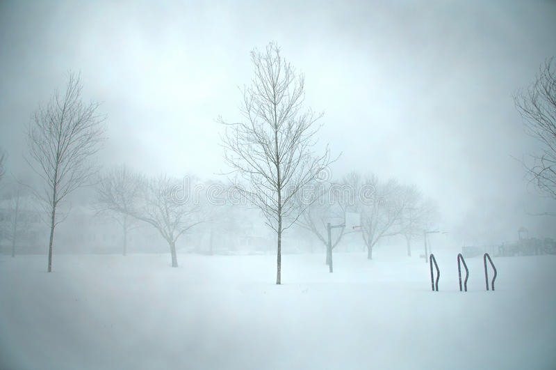 De blizzard van Boston royalty-vrije stock foto's