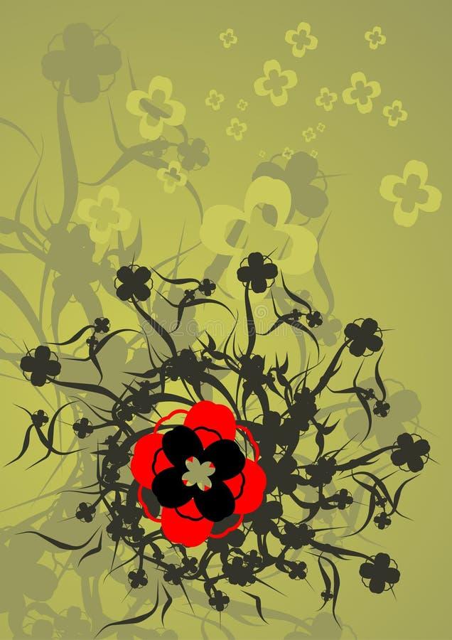 De bloei van Grunge vector illustratie