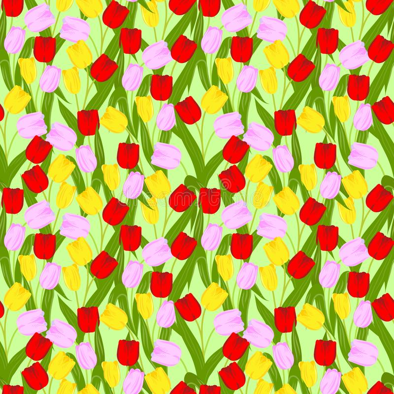 De bloeiende lente bloeit naadloos patroon stock illustratie