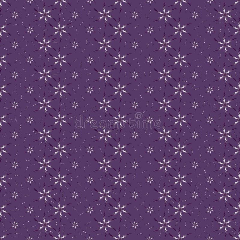 De bloem klein helder naadloos patroon van de golf golvend lijn stock illustratie