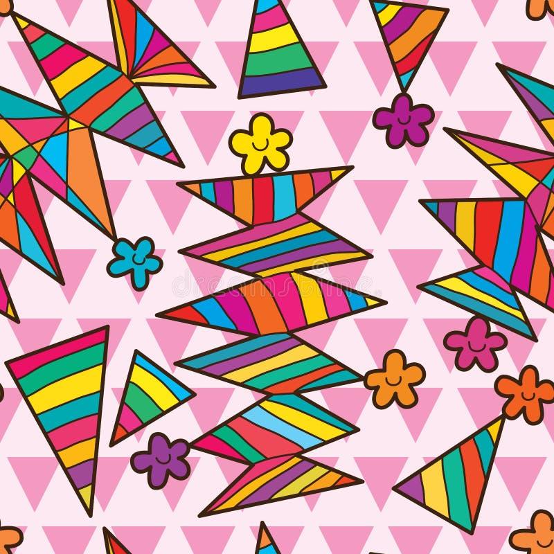 De bloem naadloos patroon van de driehoeksstok royalty-vrije illustratie