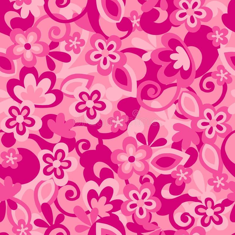 De bloem Naadloze Camo herhaalt Patroon royalty-vrije illustratie