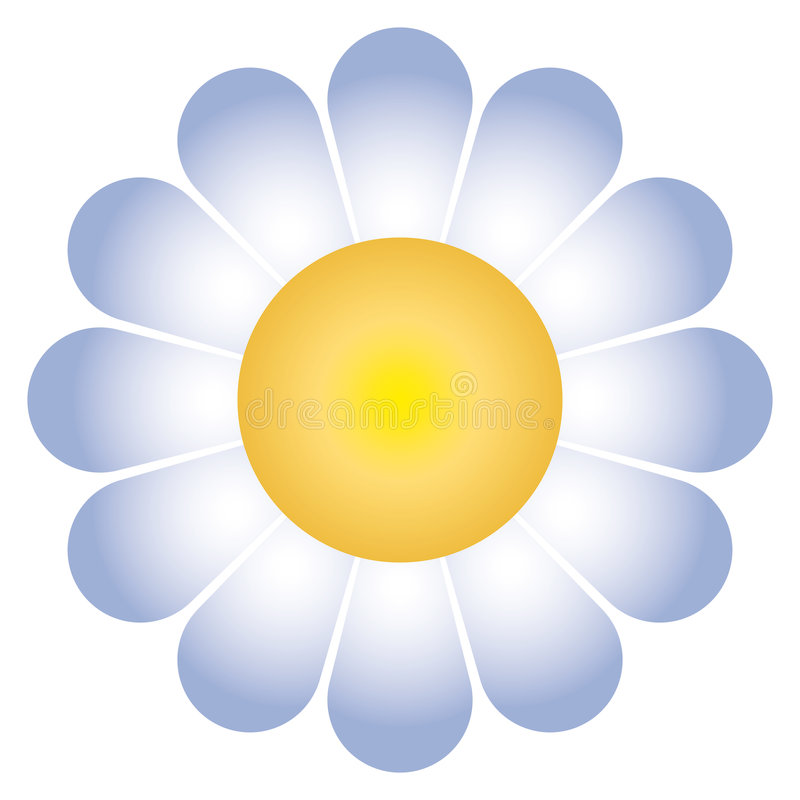 De bloem van Daisy (vector) royalty-vrije illustratie