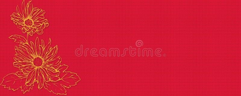 De bloem van de banner stock afbeelding