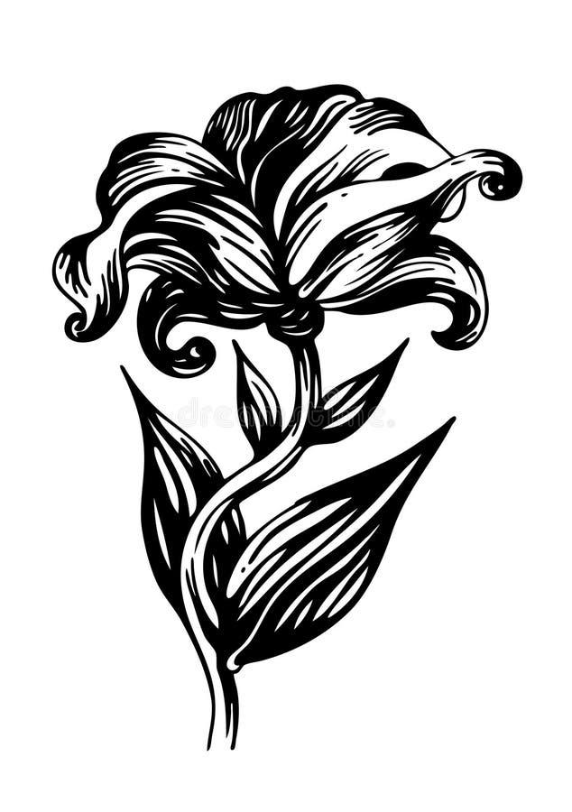 De bloem van de decoratie royalty-vrije illustratie