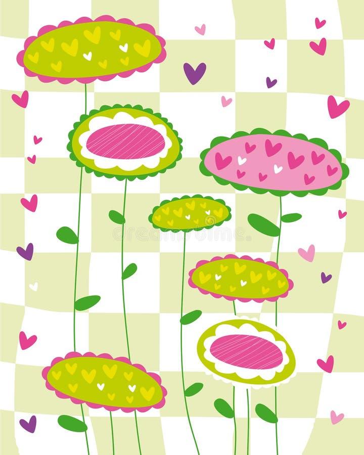 De bloem van de textuur royalty-vrije illustratie