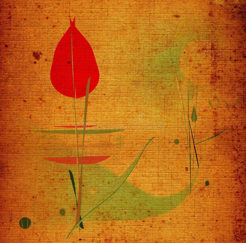 De bloem van de winter vector illustratie