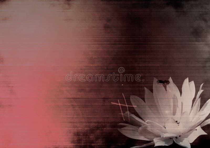 De bloem van Grunge royalty-vrije illustratie