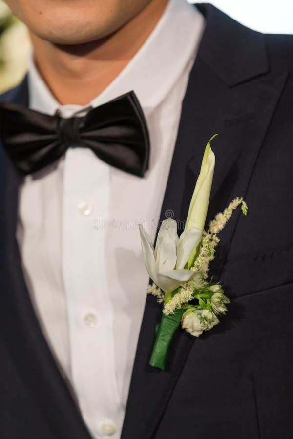 De bloem van het huwelijk voor bruidegom royalty-vrije stock foto