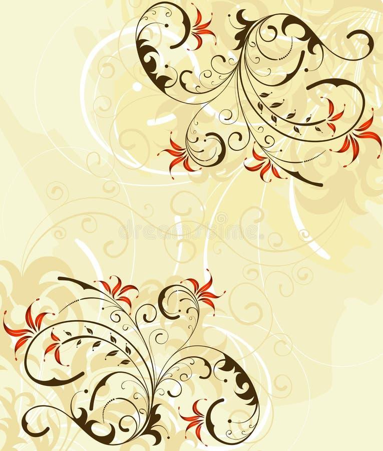 De bloemachtergrond van Grunge royalty-vrije illustratie