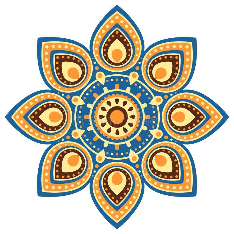 De bloemachtergrond van Ugadimandala stock illustratie