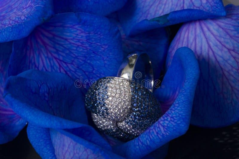 De bloemblaadjes van namen met diamanten toe royalty-vrije stock foto's