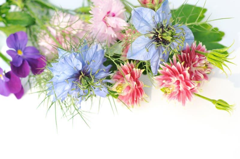 De bloemboeket van de tuin stock afbeelding