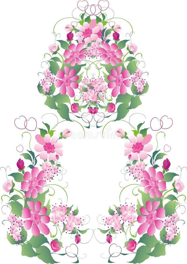 De bloemdecoratie van het huwelijk royalty-vrije illustratie