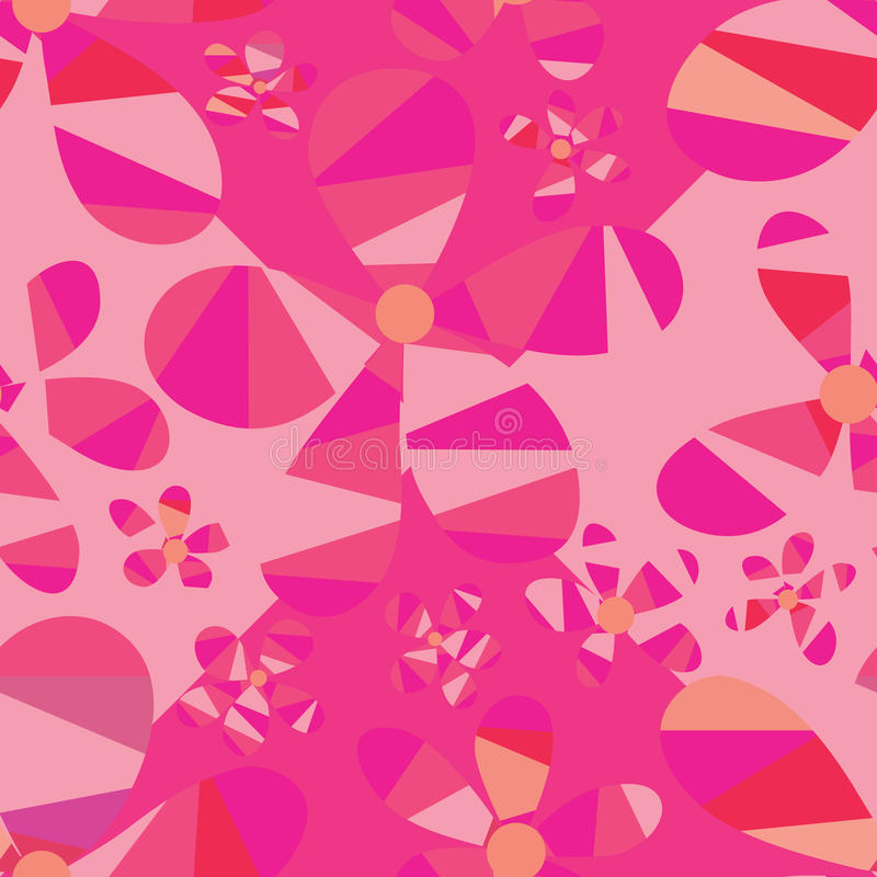 De bloemdriehoek sneed naadloos patroon vector illustratie