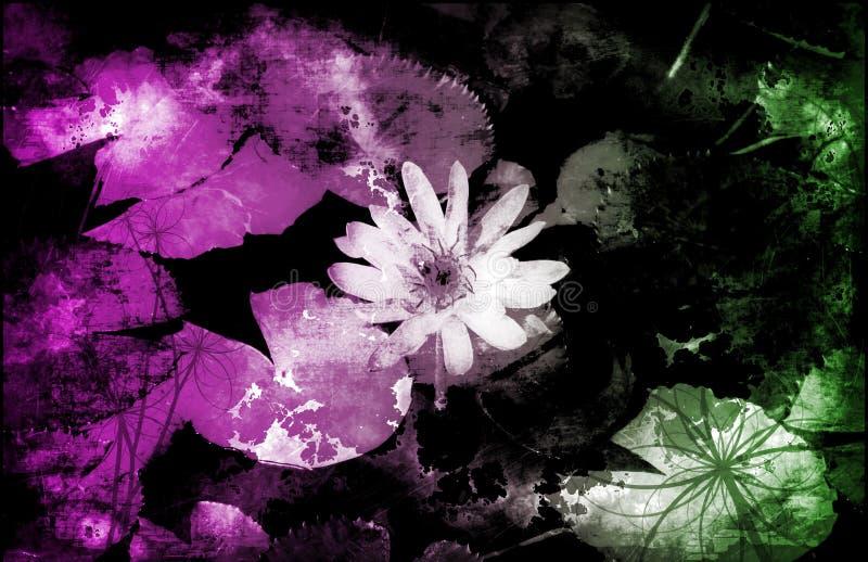 De Bloemen Abstracte Achtergrond van Grunge vector illustratie