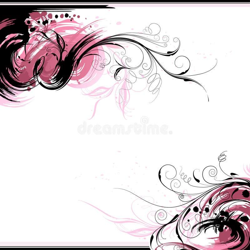 De bloemen Achtergrond van de Inkt royalty-vrije illustratie