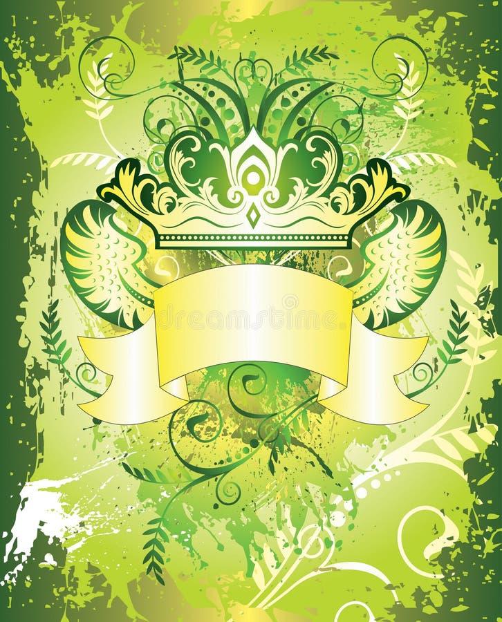 De bloemen Achtergrond van de Kroon vector illustratie