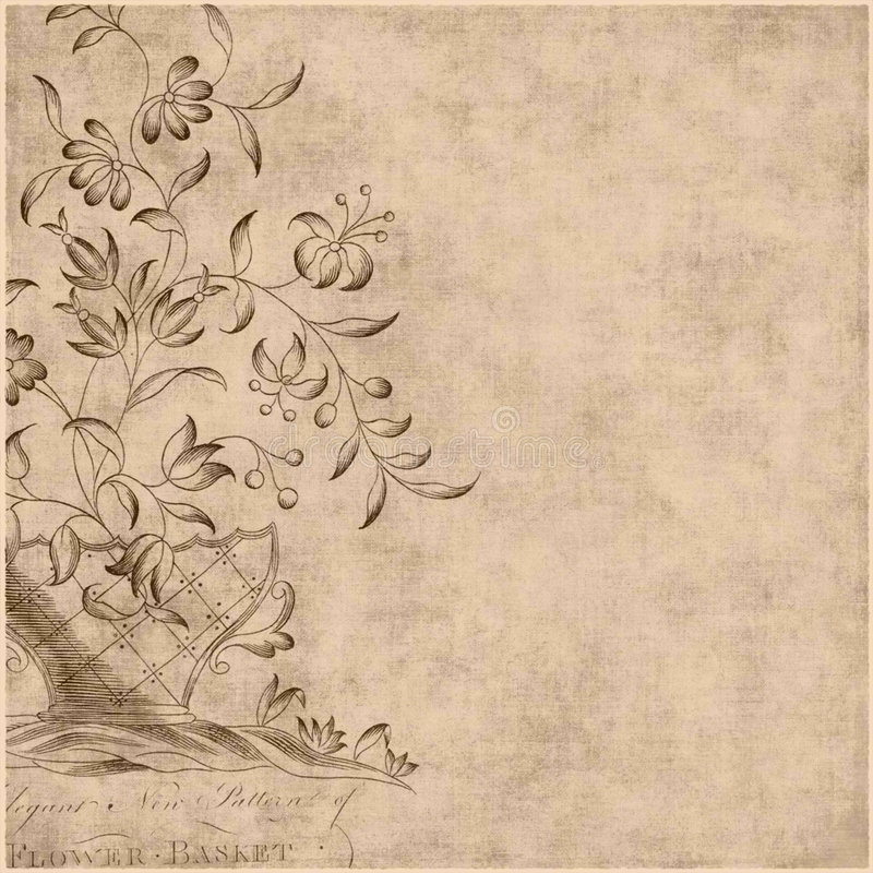 De bloemen Achtergrond van de Stijl van de Zigeuner Boheemse royalty-vrije illustratie