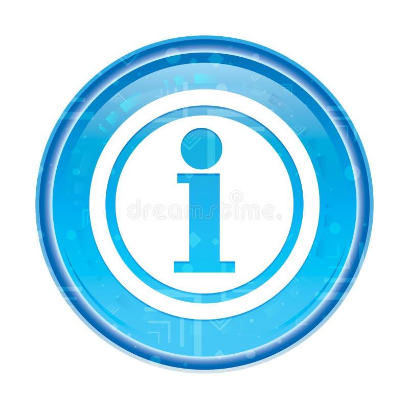 De bloemen blauwe ronde knoop van het informatiepictogram royalty-vrije illustratie