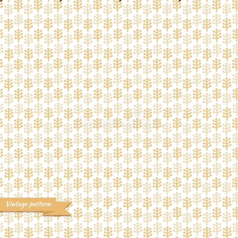 De bloemen decoratieve textuur, patroon met doorbladert stock illustratie