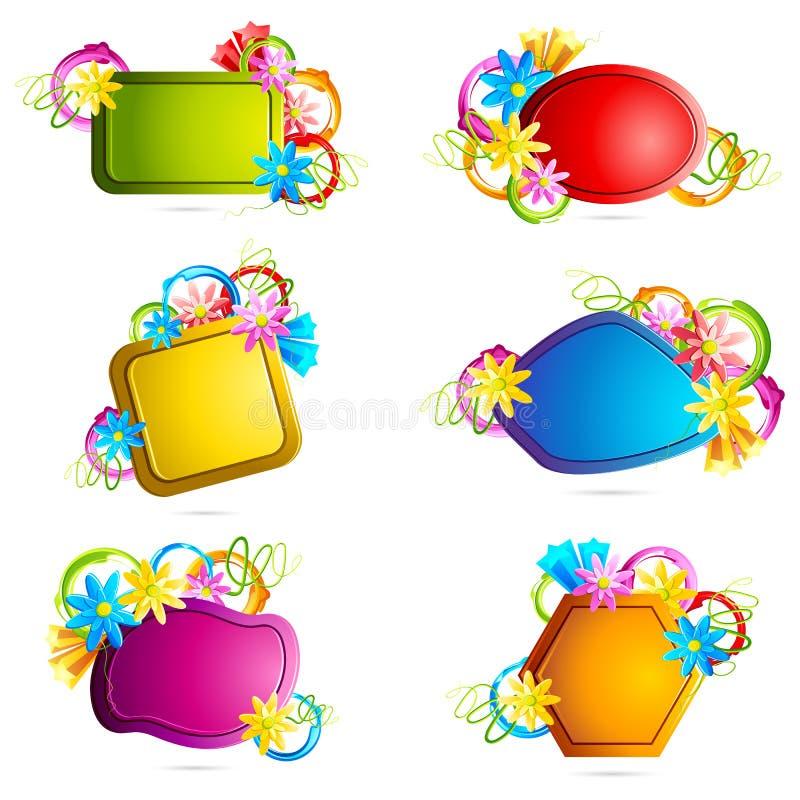 De bloemen Markering van de Verkoop vector illustratie