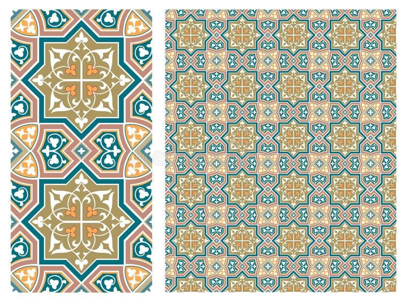 De bloemen Naadloze decoratieve vector van de patroonvoorraad, gebruik voor betegelde Gekleurde achtergrond, vector illustratie