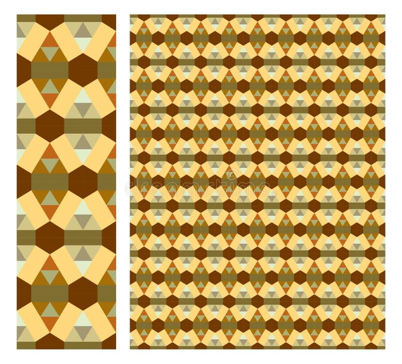 De bloemen Naadloze decoratieve vector van de patroonvoorraad, gebruik voor betegelde Gekleurde achtergrond, stock illustratie