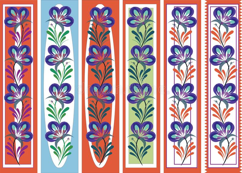 De bloemen sierstijl van referentie volkspetrykiva royalty-vrije illustratie